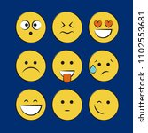 smile icons. emoji. emoticons | Shutterstock .eps vector #1102553681