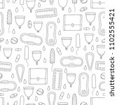 seamless vector pattern with...   Shutterstock .eps vector #1102555421