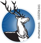 retro illustration of a stag... | Shutterstock . vector #110256161