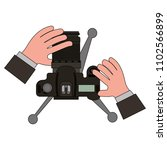 hands with camera photographic... | Shutterstock .eps vector #1102566899