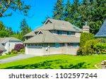 big custom made luxury house... | Shutterstock . vector #1102597244
