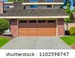 garage  garage doors and... | Shutterstock . vector #1102598747