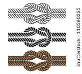vector black rope knot symbols | Shutterstock .eps vector #110260235