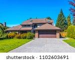 big custom made luxury house... | Shutterstock . vector #1102603691