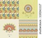 indian pattern | Shutterstock .eps vector #110261117