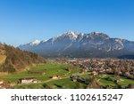 garmisch partenkirchen historic ...   Shutterstock . vector #1102615247