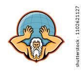 mascot icon illustration of... | Shutterstock .eps vector #1102621127