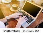 women hand rear view close up... | Shutterstock . vector #1102632155