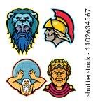 mascot icon illustration set of ... | Shutterstock .eps vector #1102634567