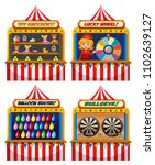 a set of fun fair tent ... | Shutterstock .eps vector #1102639127