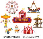 a circus and festival element...   Shutterstock .eps vector #1102639295