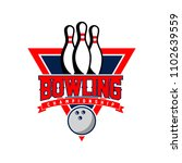 professional bowling club badge ... | Shutterstock .eps vector #1102639559