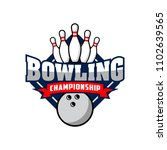 professional bowling club badge ... | Shutterstock .eps vector #1102639565