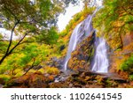 beautiful waterfall stream at... | Shutterstock . vector #1102641545
