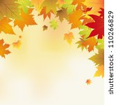 autumn background with leaves... | Shutterstock .eps vector #110266829