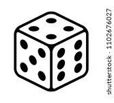 six sided dice   die for casino ... | Shutterstock .eps vector #1102676027