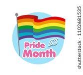 pride month rainbow flag... | Shutterstock .eps vector #1102681535