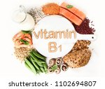 foods rich in vitamin b1... | Shutterstock . vector #1102694807