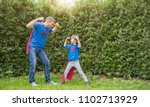 caucasian father daughter child ... | Shutterstock . vector #1102713929