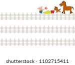the title frame of the ranch. a ... | Shutterstock .eps vector #1102715411