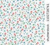 seamless pattern of delicate...   Shutterstock . vector #1102728761