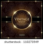 Invitation vintage card - stock vector