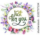 colorful bouquet. floral...   Shutterstock . vector #1102737134