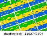 flags  of gabon  behind a glass ... | Shutterstock . vector #1102743809