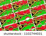 flags  of vanuatu  behind a... | Shutterstock . vector #1102744031