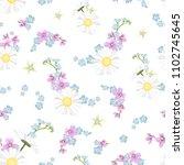 spring summer floral seamless... | Shutterstock .eps vector #1102745645