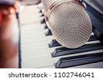 microphone in a recording studio | Shutterstock . vector #1102746041