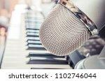 microphone in a recording studio | Shutterstock . vector #1102746044