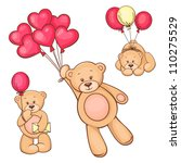 illustration of cute teddy bear ... | Shutterstock .eps vector #110275529
