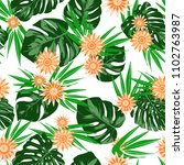 tropical seamless pattern with... | Shutterstock .eps vector #1102763987