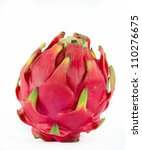 healthy red dragon fruit... | Shutterstock . vector #110276675
