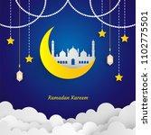 ramadan kareem paper art vector ... | Shutterstock .eps vector #1102775501