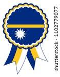 nauru award ribbon vector in... | Shutterstock .eps vector #1102779077