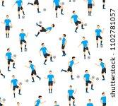 cartoon football players... | Shutterstock .eps vector #1102781057
