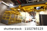 Small photo of Yellow Elevator in loading bay to load heavy machine inside building or exhibition center which good for Car, installation material, Construction things and Big Size Booth kiosh