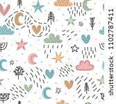 cute childish seamless pattern... | Shutterstock .eps vector #1102787411