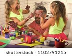 fathers day and family concept. ...   Shutterstock . vector #1102791215