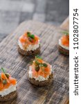 mini sandwiches with cream... | Shutterstock . vector #1102807754