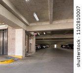 empty underground parking or... | Shutterstock . vector #1102810007