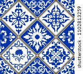 seamless patchwork tile with... | Shutterstock .eps vector #1102813259