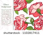 floral background. hand drawn... | Shutterstock .eps vector #1102817411