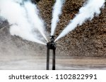 gas pipeline leaks at the... | Shutterstock . vector #1102822991