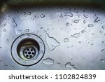 a wet dirty sink after washing... | Shutterstock . vector #1102824839