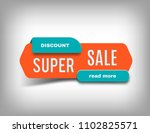 super sale banner  discount tag ... | Shutterstock .eps vector #1102825571