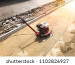 plate compactor for for soil... | Shutterstock . vector #1102826927