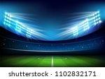 soccer football stadium greeen... | Shutterstock .eps vector #1102832171